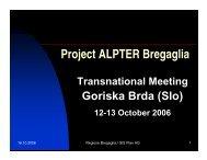 Report form Regione Bregaglia - Project ALPTER