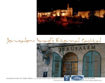 Jerusalem: Israel's Eternal Capital - Jerusalem Center For Public ...