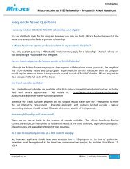 Frequently Asked Questions - Mitacs