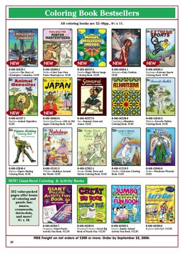 Coloring Book Bestsellers - Dover Publications