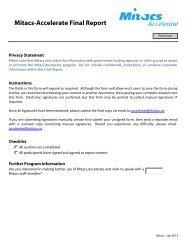 Mitacs-Accelerate Final Report