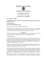 Acción de Tutela Sentencia T-1635/00 de la Sala Quinta de ... - Acnur