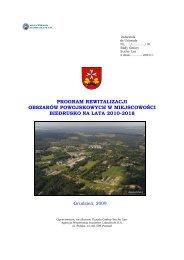 program rewitalizacji obszarów powojskowych w ... - Gmina Suchy Las