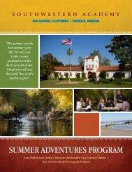 SUMMER ADVENTURES PROGRAM - Southwestern Academy
