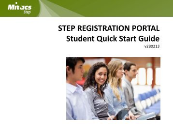 Student Quick Start Guide - Mitacs Step