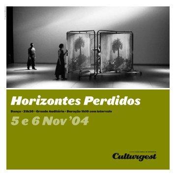 Horizontes Perdidos 5 e 6 Nov '04 - Culturgest