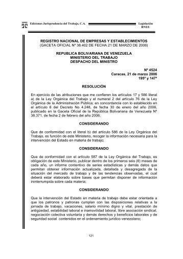 REGISTRO NACIONAL DE EMPRESAS Y ... - Juris-Line