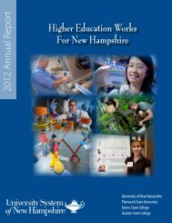 2012 Annual Report - University System of New Hampshire