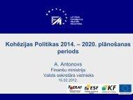 3. ES fondu vadības sistēma 2014. - 2020. gada periodā - ES fondi