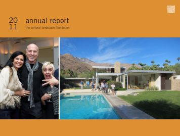Annual Report, 2011 - The Cultural Landscape Foundation