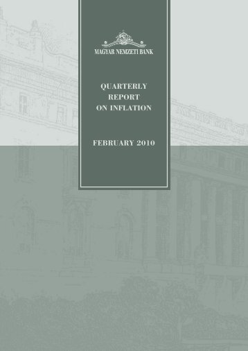 QUARTERLY REPORT ON INFLATION FEBRUARY 2010 - EPA