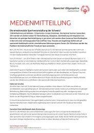 National Summer Games 2014 in Bern - Wirtschaftsraum Bern
