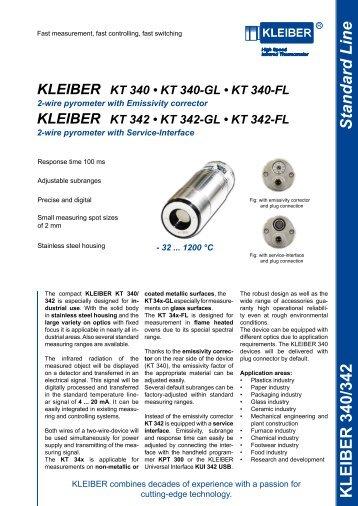 Standard Line KLEIBER 340/342 - Delta Strumenti S.r.l.
