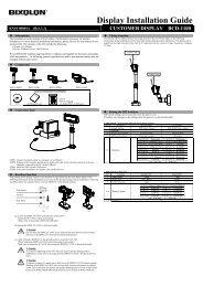 Display Installation Guide - BIXOLON