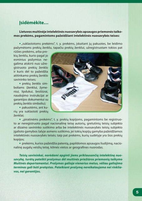 kaip apsaugoti intelektinę nuosavybę? - Lietuvos Respublikos muitinė