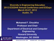 Mohammed Chouikha, Professor and Chair, Electrical and ... - ecedha