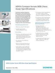 ADVIA Centaur Serum HER-2/neu Assay Specifications - Siemens ...