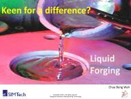 Liquid Forging - Singapore Institute of Manufacturing Technology - A ...
