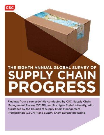 Global Survey of Supply Chain Progress