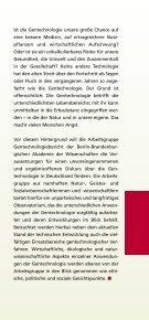 Broschüre der Arbeitsgruppe - Gentechnologiebericht - Seite 3