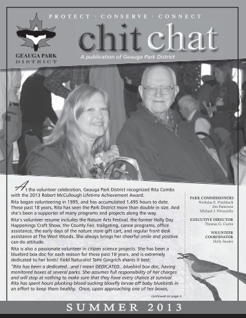 Chit Chat Summer 2013 - Geauga Park District
