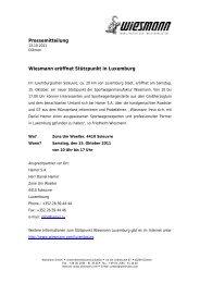 Wiesmann eröffnet Stützpunkt in Luxemburg - Co-Investor AG