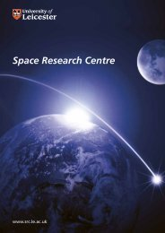 Space Research Centre Brochure - University of Leicester