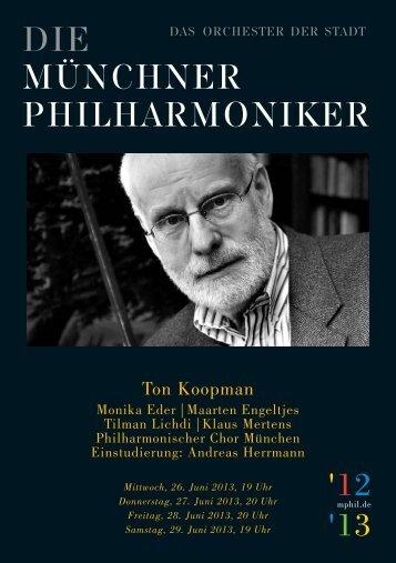 Programmhefte - Münchner Philharmoniker