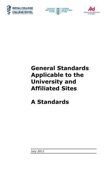 A Standards Booklet – The Purple Book - Post Graduate Medical ...