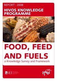 Food, Feed & Fuels - Stockholm Environment Institute-US Center