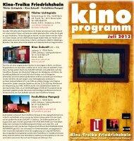 Flyer Juli 2013 - Kino Zukunft