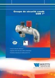 """Groupe de sécurité coudé GSM 1"""" - Watts Industries"""