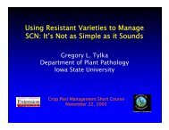Using Resistant Varieties to Manage SCN - Department of ...