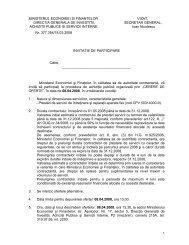 ministerul economiei si finantelor vizat, directia generala de investitii ...