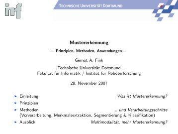 Mustererkennung - Prinzipien, Methoden ... - Gernot A. Fink