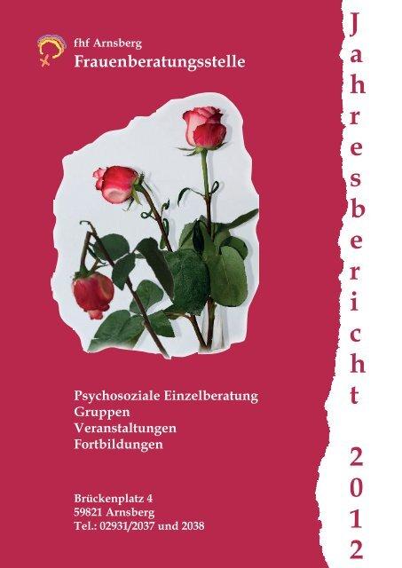 J a h r e s b e r i c h t 2 0 1 2 - Frauenberatungsstelle Arnsberg
