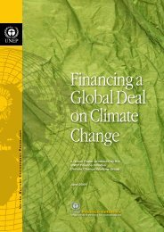 U N E P A Green Paper produced by the UNEP Finance Initiative ...