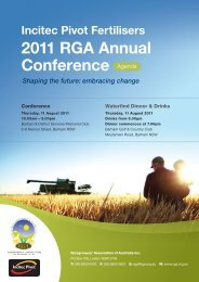 2011 RGA Annual Conference Agenda - Ricegrowers' Association ...