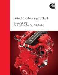 Better. From Morning To Night. - Cummins Engines