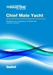 New Zealand chief mate yacht MNZ guidelines - Maritime New ...