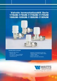 Valvole termostatizzabili Serie 178UM-179UM ... - Watts Industries