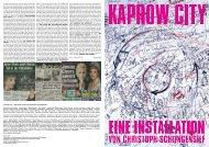 Kaprow City Programmzettel - Christoph Schlingensief
