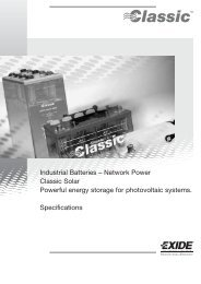 Industrial Batteries – Network Power Classic Solar ... - Acculine