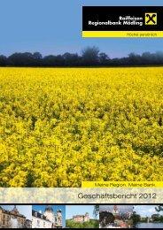 Geschäftsbericht 2012 - RRB Mödling