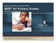 MAP for Primary Presentation - Ohio County Schools