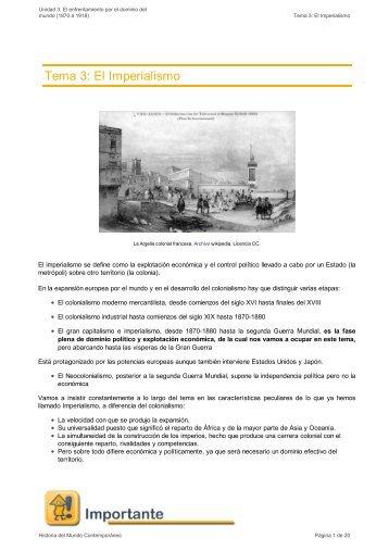 Tema 3: El Imperialismo - aulAragon