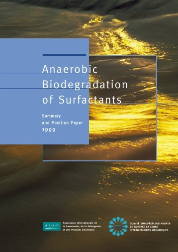 Anaerobic Biodegradation of Surfactants (1999) - erasm