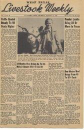 January 19, 1950 - Livestock Weekly!