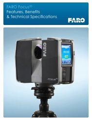 FARO Focus 3D Laser Scanner Product Brochure