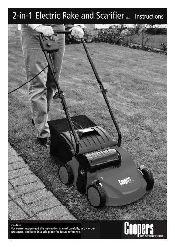 Download PDF instructions for 2 in 1 Lawn Rake and Scarifier